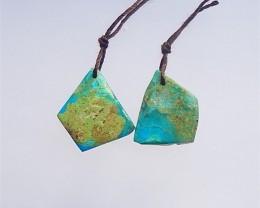 22.5ct New Design irregular Blue Opal Earring Pair(18040305)