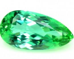 23.90 cts Pear Shape Cut Lush Green Spodumene Gemstone From Afghanistan (P)
