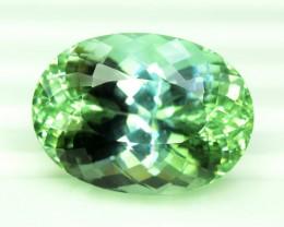 30.45 cts Oval Cut Lush Green Spodumene Gemstone From Afghanistan (P)