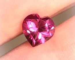1.51ct PINK AZOTIC MYSTIC TOPAZ HEART - no reserve