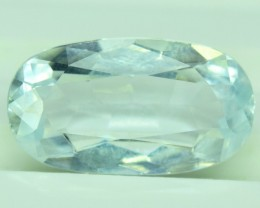 4.00 CTS Oval Cut Natural Untreated Aquamarine Gemstone From Pakistan