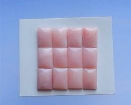 67ct 12Pcs  Specialoffer Natural Pink Opal Cabochon (18040321)