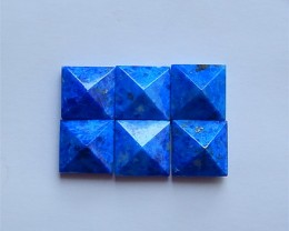 50ct 6Pcs Hot Sale Natural Lapis Lazuli Cabochon(18040327)