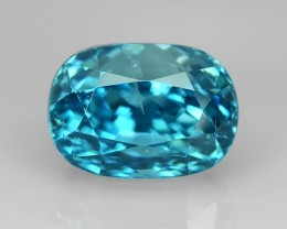 6.45 Cts AWESOME SPARKLE NATURAL RARE BEST BLUE ZIRCON