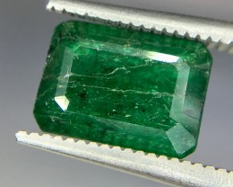 2.35 Crt Natural Zambia Emerald Faceted Gemstone (R 161)