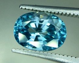 3.65 Crt Natural Blue Zircon Faceted Gemstone (R 161)