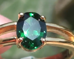 Tsavorite Garnet 1.21ct 18ct Solid Gold Ring