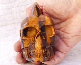 0.820  kilo Mohawk Style Tigert Eye   Gemstone  Skull  SU 1140