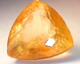 Flashy 12.29 Ct Natural Honey Calcite Trillion cut - F004