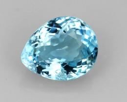 1.05 CTS WONDERFUL!!! PEAR 100%NATURAL  BLUE AQUAMARINE