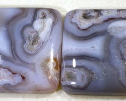 72.6CTS LACE AGATE PAIR ADG-1625