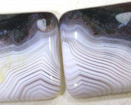 68.0CTS LACE AGATE PAIR ADG-1627