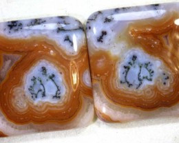 56.15CTS LACE AGATE PAIR ADG-1633