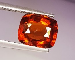 "4.99 Ct "" Certified Gem(IGI) Stunning Cushion Cut Natural Grossular Gr"