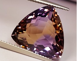 "15.01 Ct "" IGI Certified Top Luster Trillion Cut Natural Ametrine"