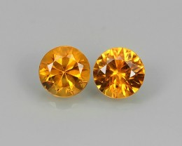 AWESOME NICE 4 MM ROUND ORANGE NATURAL SAPPHIRE FACET GENUINE