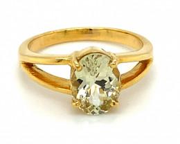 Laletema Grossular Yellow Garnet 2.30ct Solid 18K Yellow Gold Ring