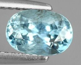 1.20 cts-BEST-GRADE-SPARKLING-RARE-NATURAL-AQUAMARINE-OVAL NR!