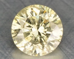 0.19 Cts Natural Mint Yellow Diamond Round Africa