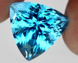 13.41ct Riveting Swiss Sky Blue Jewellery Grade Sky Blue Topaz Master cut