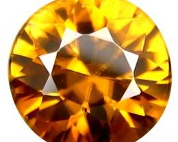 1.84 ct Sparkling  Natural Intense Beautiful Round Brown Zircon Srilanka!!