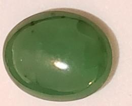 1.2 Ct Apple Green Jadeite Jade Cabochon (Burma)