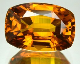 4.05 Cts Natural Golden Yellow Sapphire Cushion Thailand