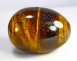 440 CT Natural Tiger Eye Carved Egg Stone Special Shape