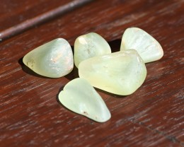 148cts Prehnite Rough - Soft Apple Green