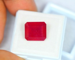 9.74Ct Natural Ruby Octagon Cut Lot V1089