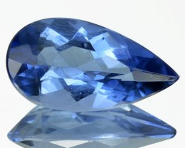 2.15 Cts Natural Deep Blue Maxixe Beryl Pear Cut Brazil Gem