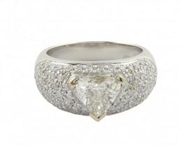 Gr. 7.20  18 k White Gold   Cert. Diamond . Cts. 1.167    FB27