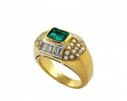 Gr  9.0 18 k Yellow Gold with Diamonds .    FB14