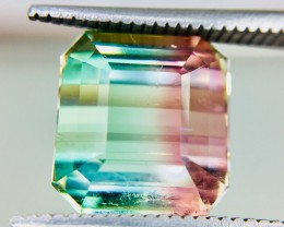 7.80 Crt Bi-Color Tourmaline Facetted Gemstone Clean Good Luster