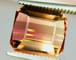 4.20 Crt Bi-Color Tourmaline Facetted Gemstone Clean Good Luster