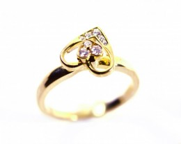Rotating Ring Gr 3.5   18 k  Gold with Diamonds Tot. Cts.    FB93