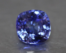 Natural cushion blue tanzanite.