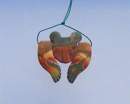 63.2ct New Design Multi-Color Picasso jasper Intarsia Pendant(18040905)