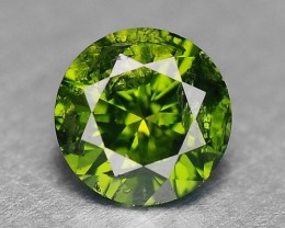0.20 Cts Natural Parrot Green Diamond Round Africa