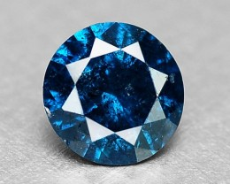 0.10 Cts Natural Blue Diamond Round Africa