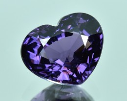 3.92 Cts Beautiful Heart Shape Natural Violet Spinel