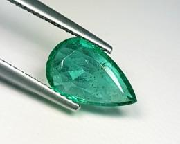 1.79 cts AAA Green Pear Cut Natural Emerald