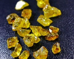 73 ct Natural - Unheated Golden Yellow Sphene Rough Lot