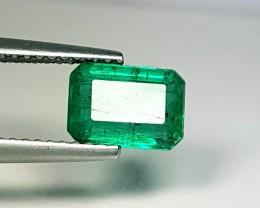 1.76 cts Zambian Mined Top Green Octagon Cut Natural Emerald