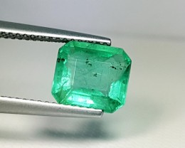 2.19 ct Awesome Green Octagon Cut Natural Emerald