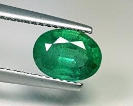 1.48 ct AAA Top Green Oval Cut Natural Emerald