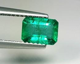 1.20 cts Fantastic Luster Green Octagon Cut Natural Emerald