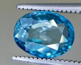 3.90 Crt Blue Zircon Faceted Gemstone (R 164)