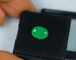 1.91Ct Natural Green Emerald Oval Cut Lot V1122