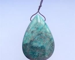 289.5ct On sale Teardrop Blue Apatite Crystal Pendant(18041008)